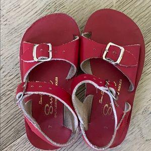Sun San red sandals size 7